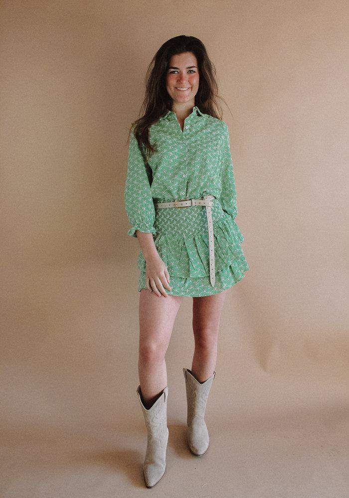 Harper and Yve - Yenthe Moise Skirt Soft Green