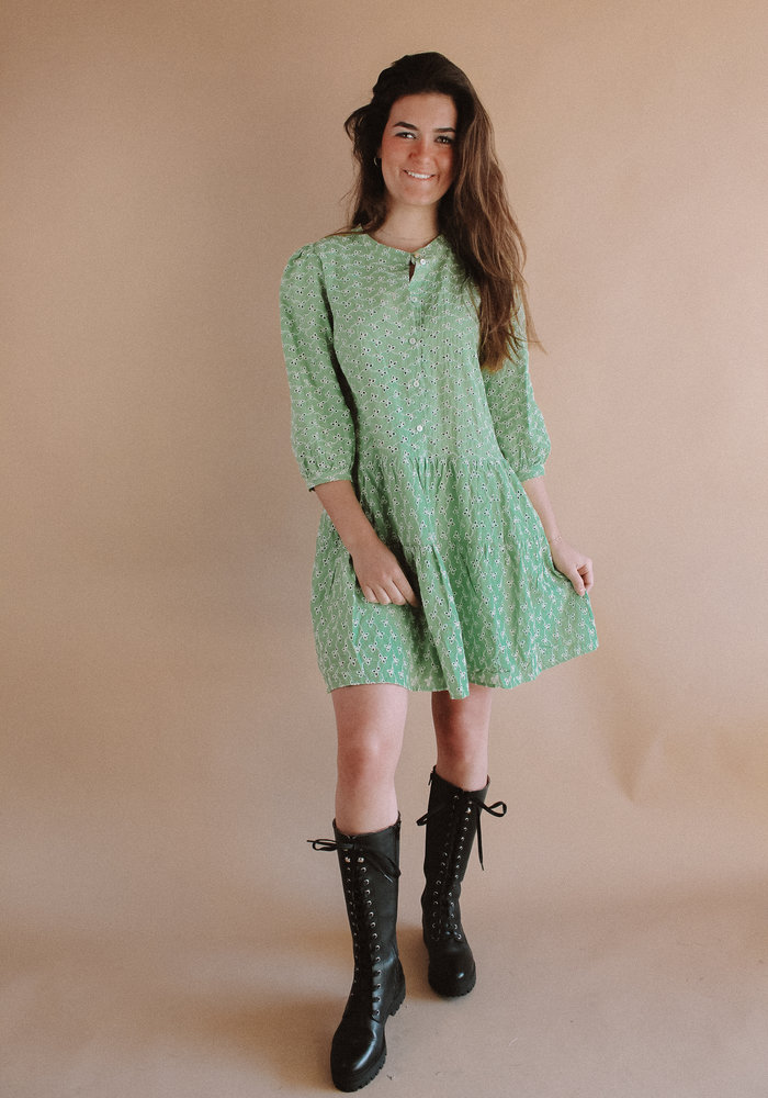 Harper and Yve - Yenthe Moise Dress Soft Green