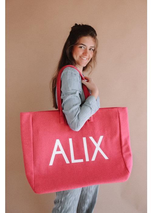 Alix Alix - Ladies Woven Felted Alix Bag Pink