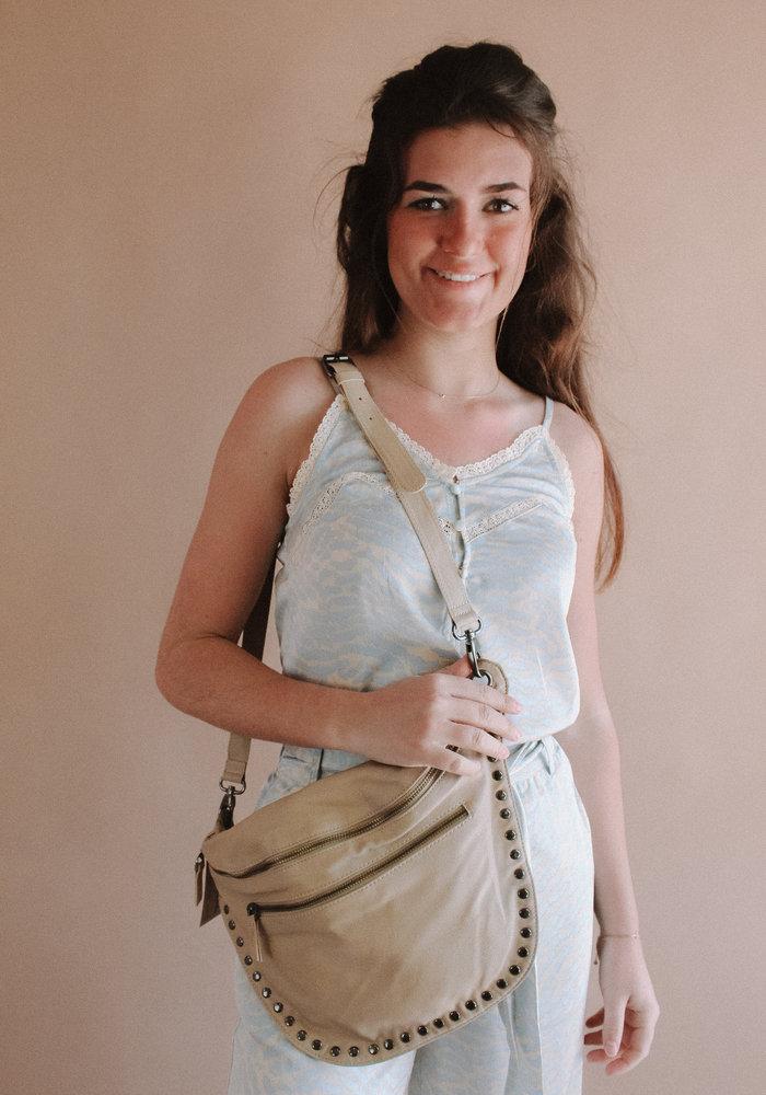 Kate Stud Bag - Taupe
