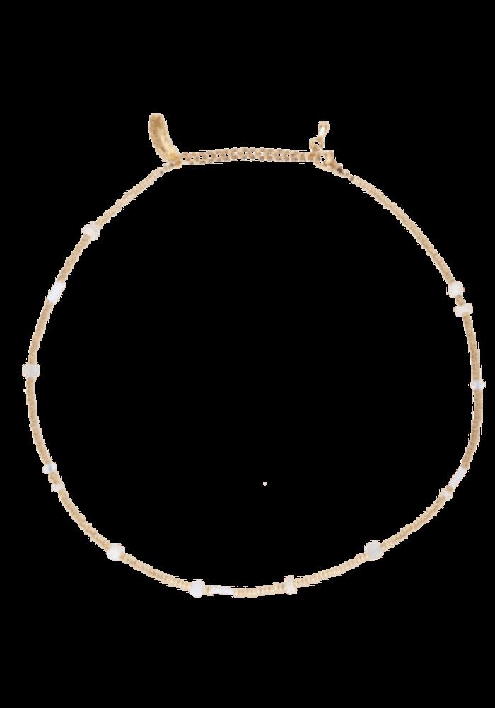 Le Veer - Beige Flair Necklace Gold