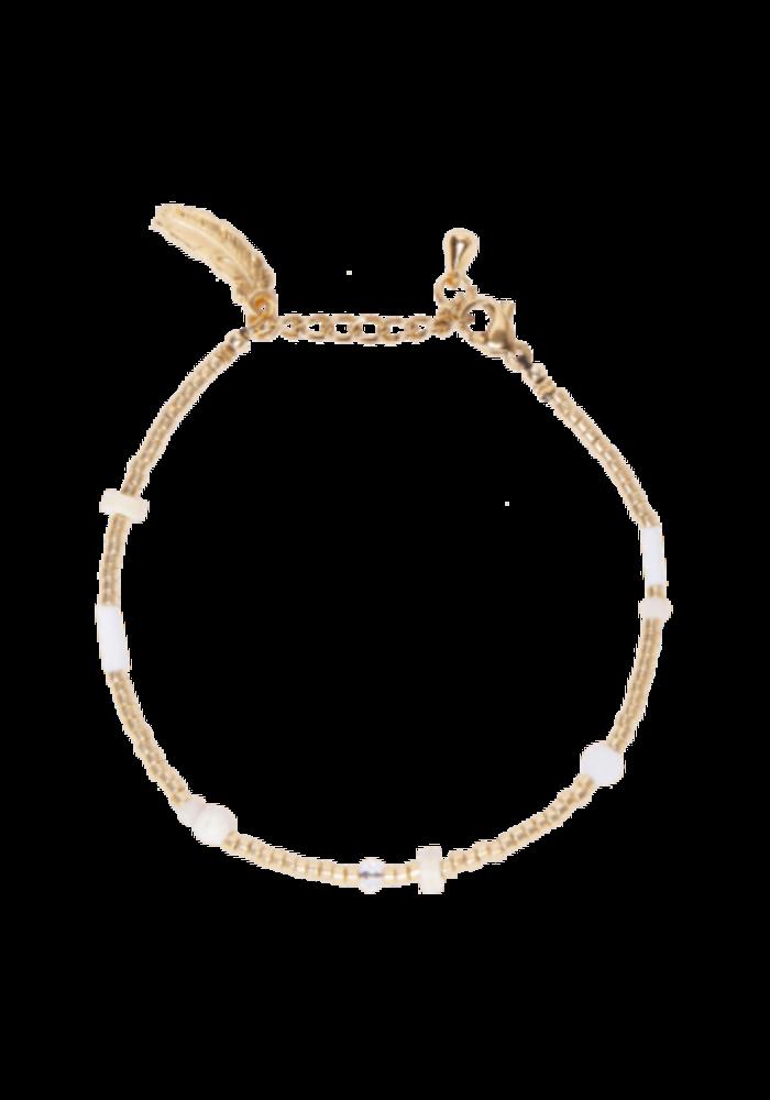 Le Veer - Beige Flair Bracelet Gold