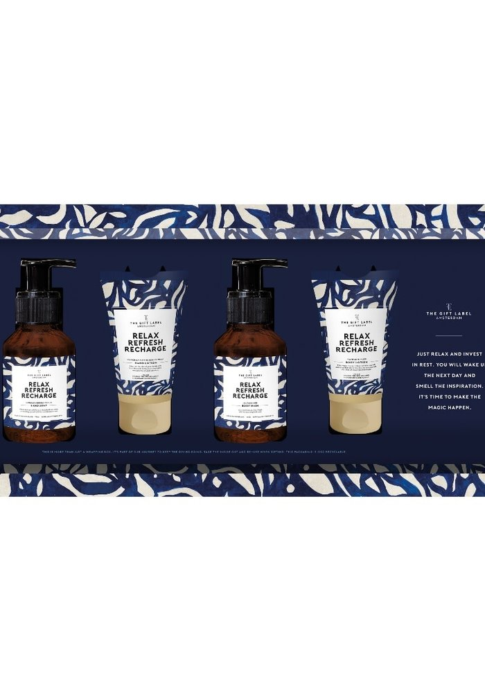 The Gift Label - Giftset - Relax Refresh Recharge