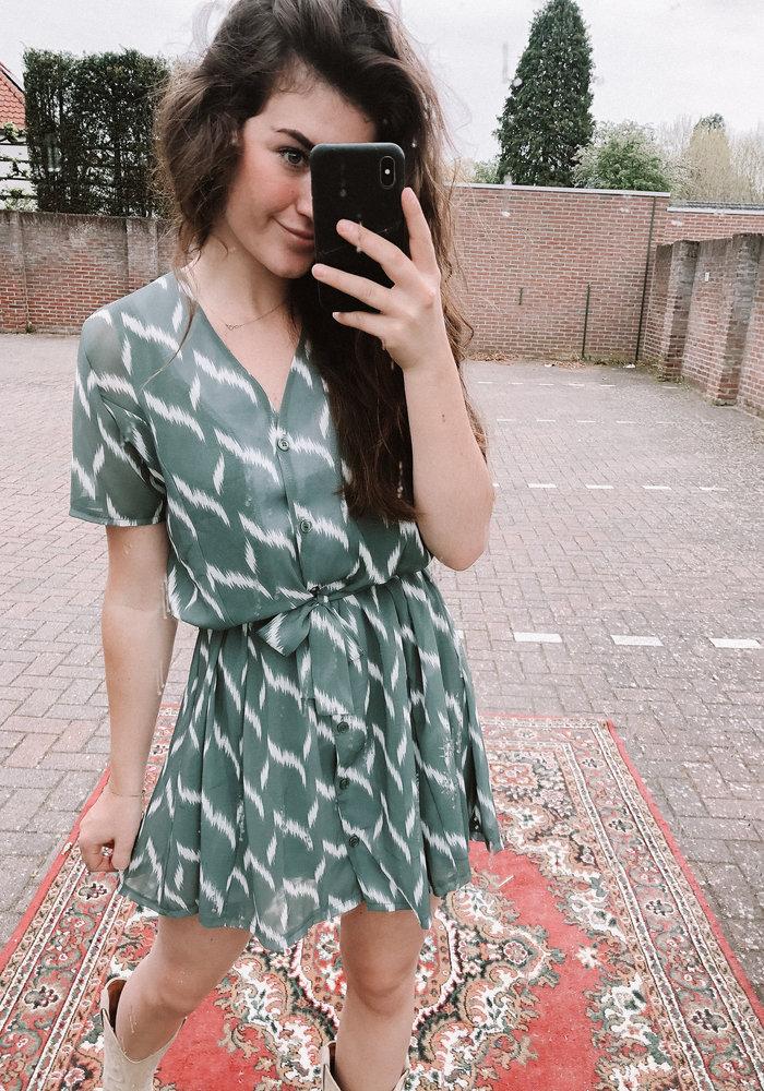 TilTil - Dora Stripe Dress Mint