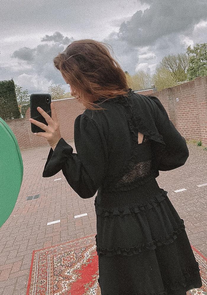 TilTil - Micky Ruffle Dress Black