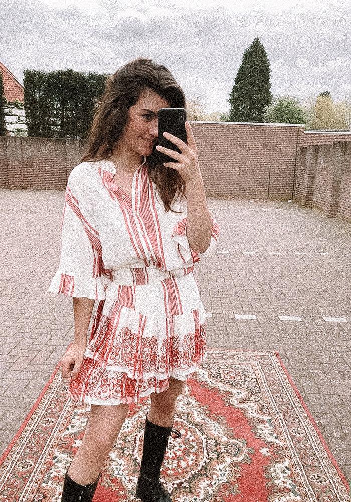 Alix - Ladies Woven Stripe Skirt