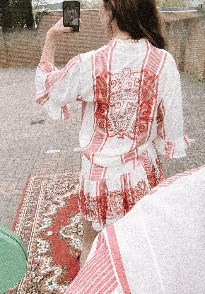 Alix - Ladies Woven Stripe Blouse