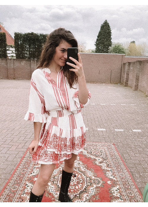 Alix Alix - Ladies Woven Stripe Blouse