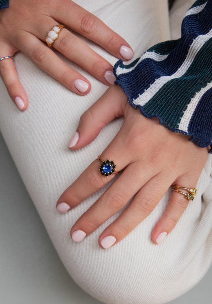 Alltheluck - Cherie Oval White Ring