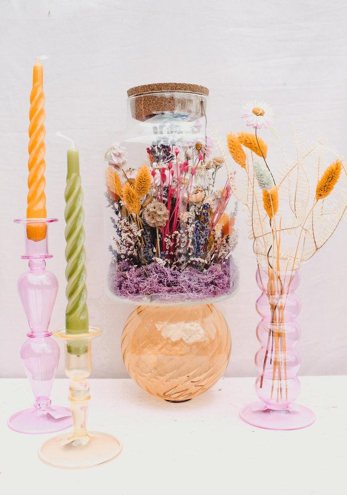 Melkbus  met Led -  Droogbloemen