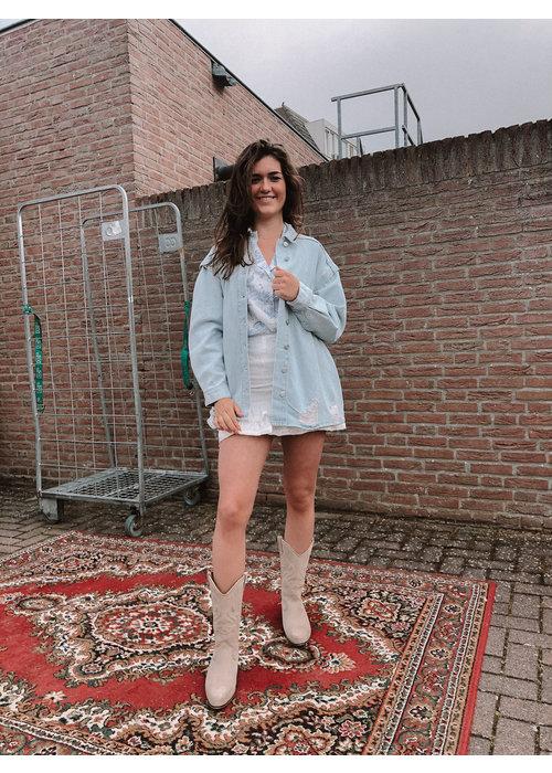 Alix Alix - Ladies Woven ALIX Embroidered Denim Jacket