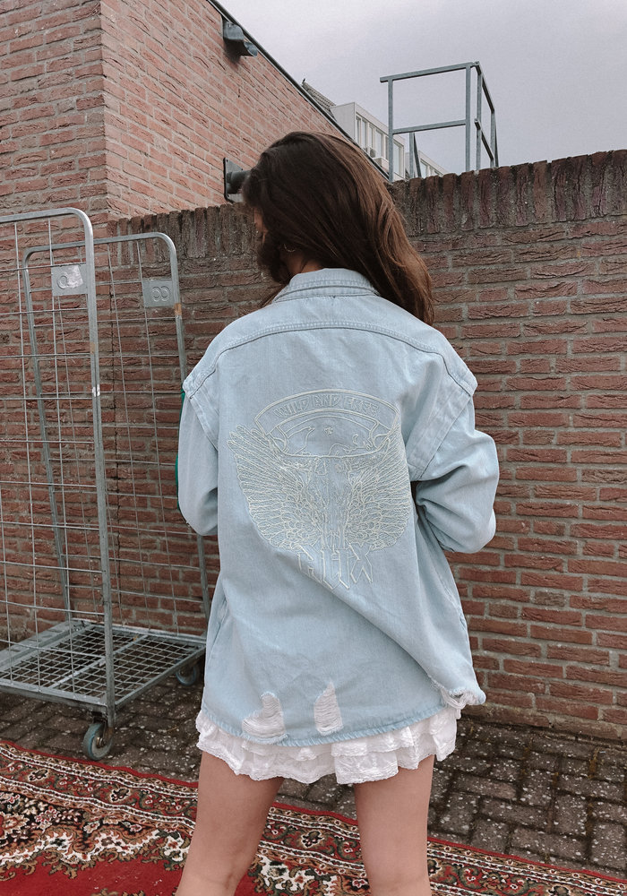 Alix - Ladies Woven ALIX Embroidered Denim Jacket