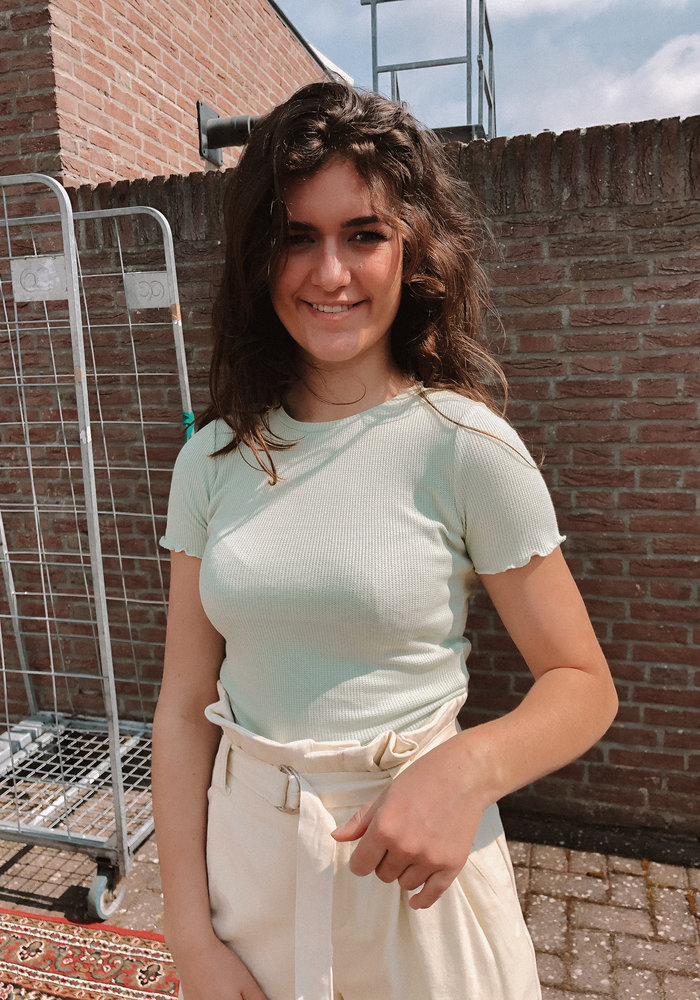 24colours - Cropped Top  Green
