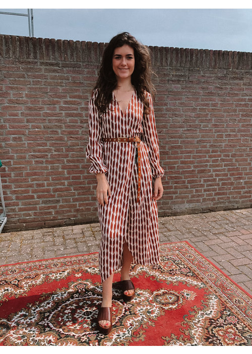 Freebird Freebird - Ananda Maxi Dress long Sleeve Brown