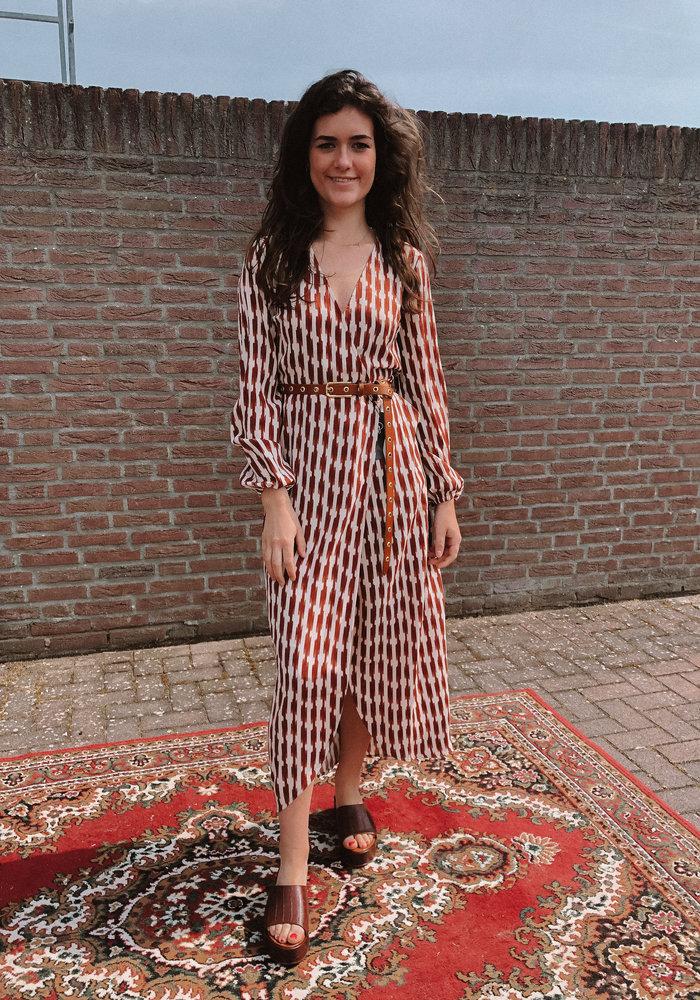 Freebird - Ananda Maxi Dress long Sleeve Brown