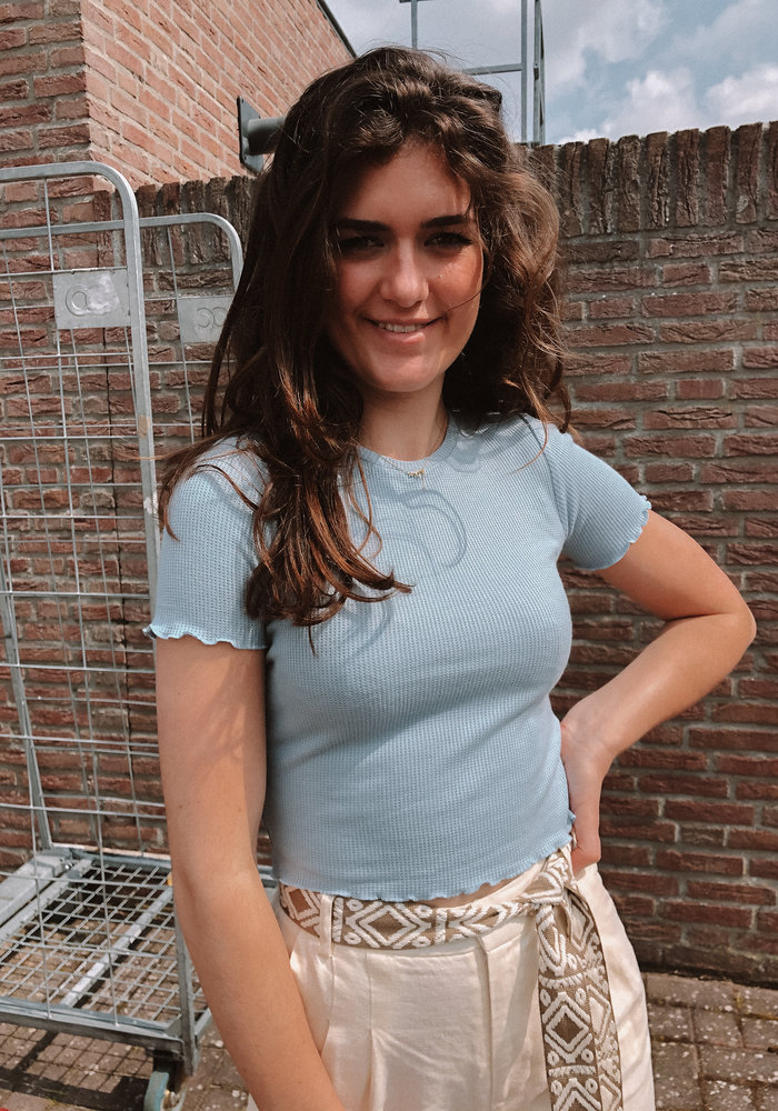 24colours - Cropped Top Blue