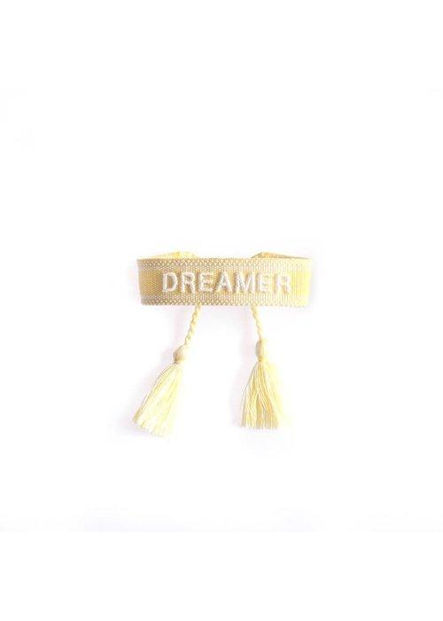 Ella Agency Ella - Canvas Bracelet Dreamer Yellow