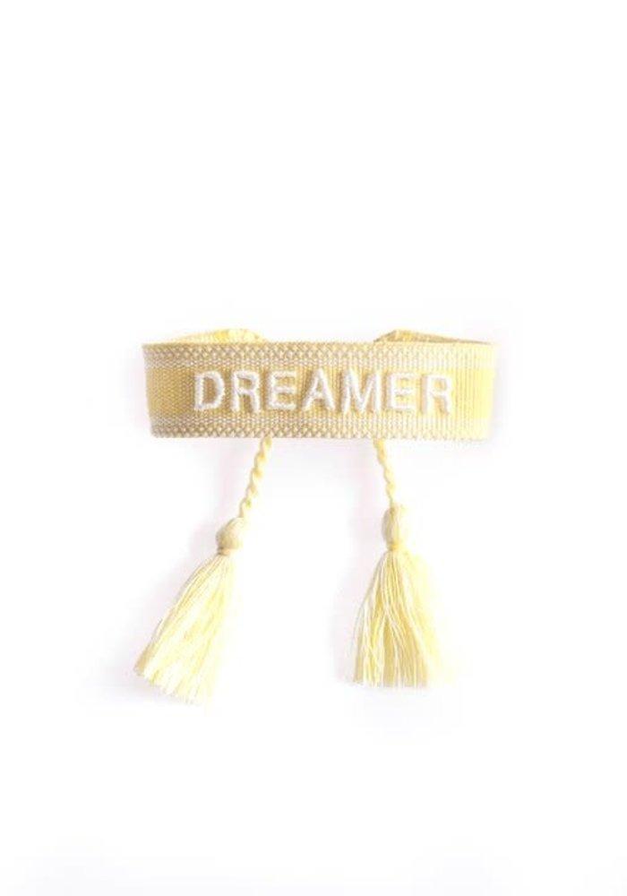 Ella - Canvas Bracelet Dreamer Yellow