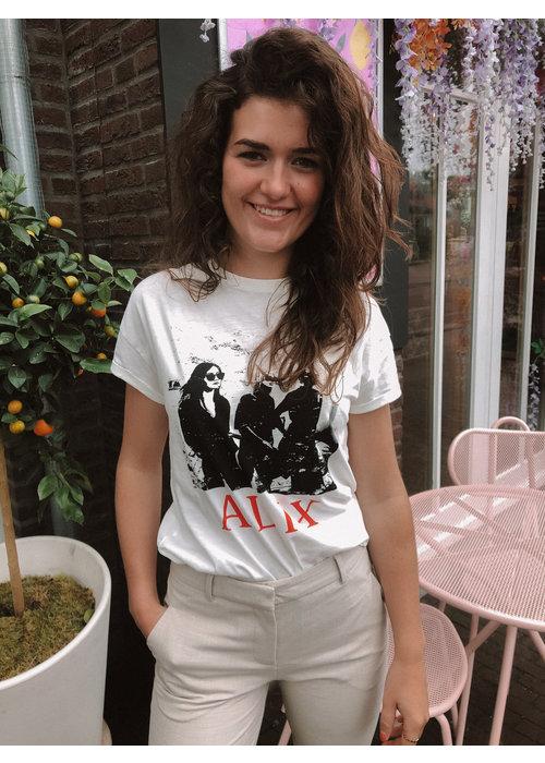 Alix Alix the Label - Ladies Knitted Boxy Photo T-shirt Soft White