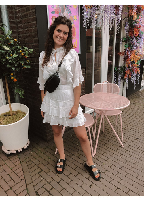 Alix Alix the Label - Ladies Woven Embroidery Chiffon Skirt Soft White