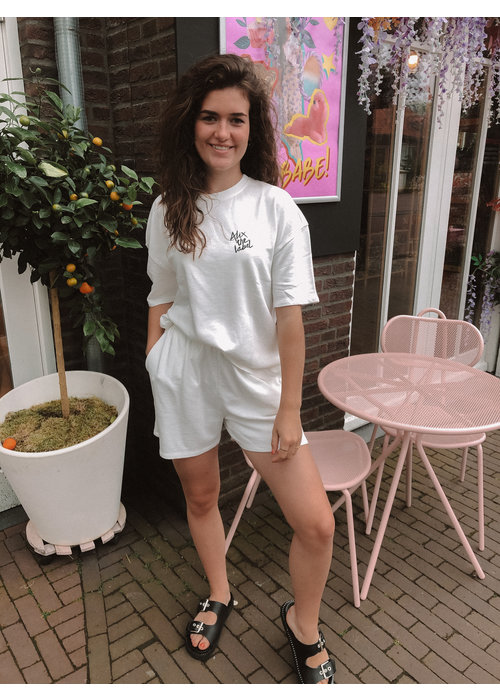 Alix Alix the Label - Ladies Knitted Summer Sweat Shirts Soft White