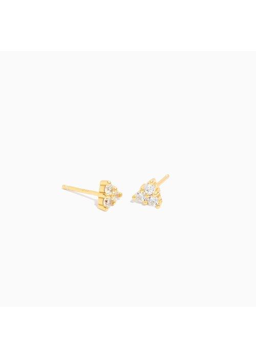 Eline Rosina Eline Rosina - Large Triangle Zirconia Earrings (per paar)