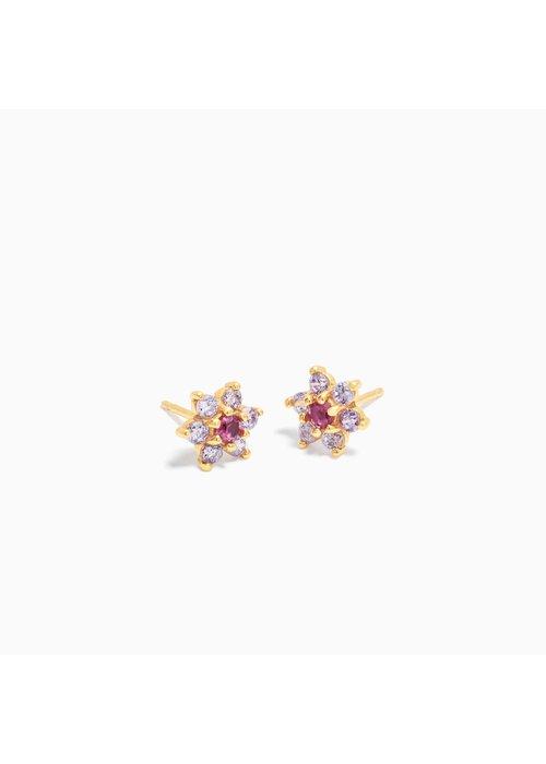 Eline Rosina Eline Rosina - Dahlia Flower Earrings ( per paar)