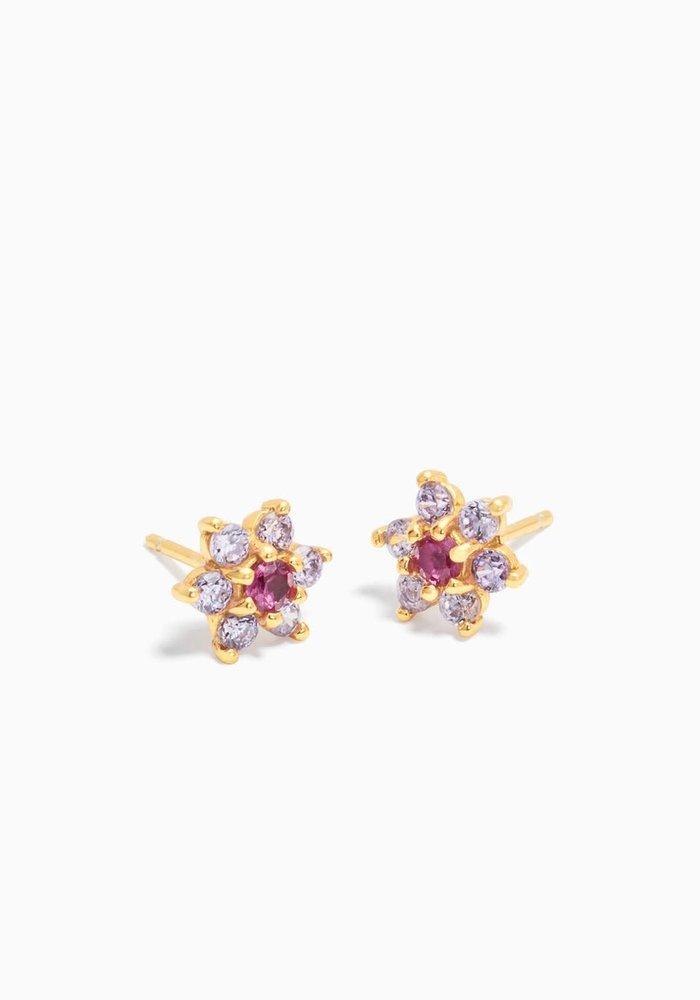 Eline Rosina - Dahlia Flower Earrings ( per paar)
