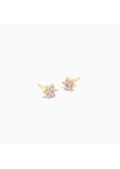 Eline Rosina Eline Rosina -Lilac Flower Earrings (per paar)