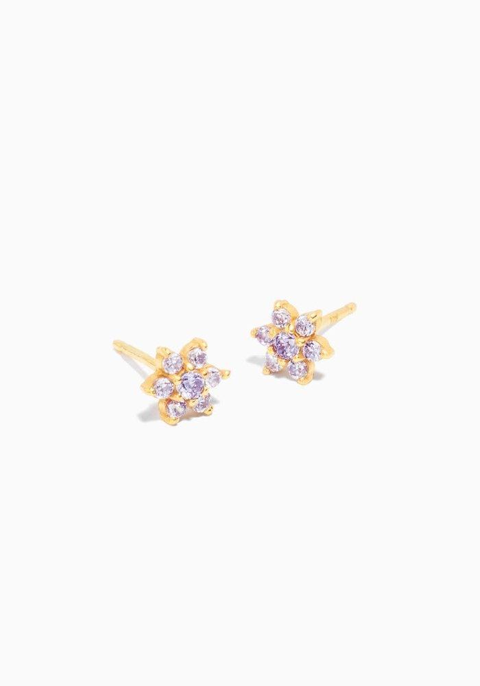 Eline Rosina -Lilac Flower Earrings (per paar)