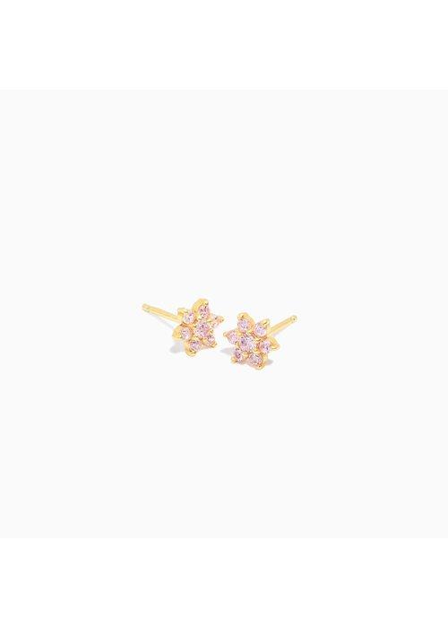 Eline Rosina Eline Rosina -Pink Flower Earrings ( per paar)