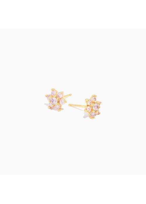 Eline Rosina Eline Rosina -Large Pink Flower Earrings (per paar)