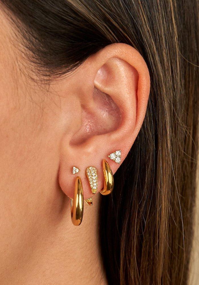 Eline Rosina - Large Triangle Zirconia Earrings (per paar)