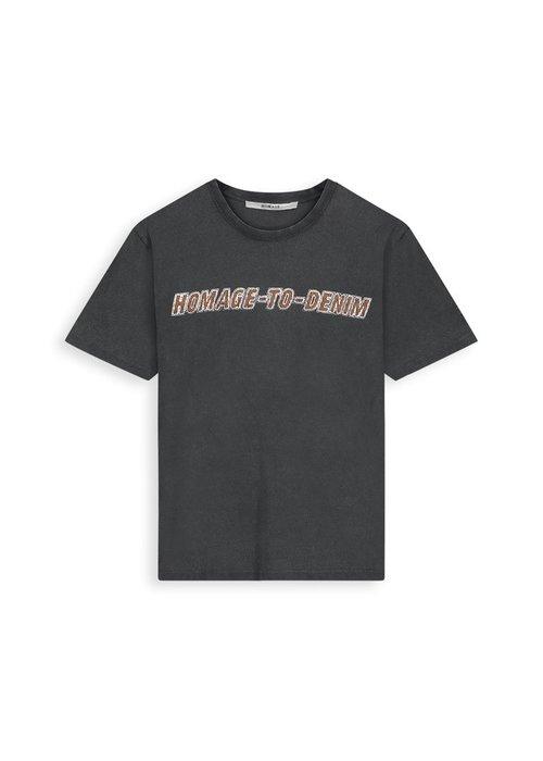 Homage Homage  - Vintage logo tee  Dirty Grey