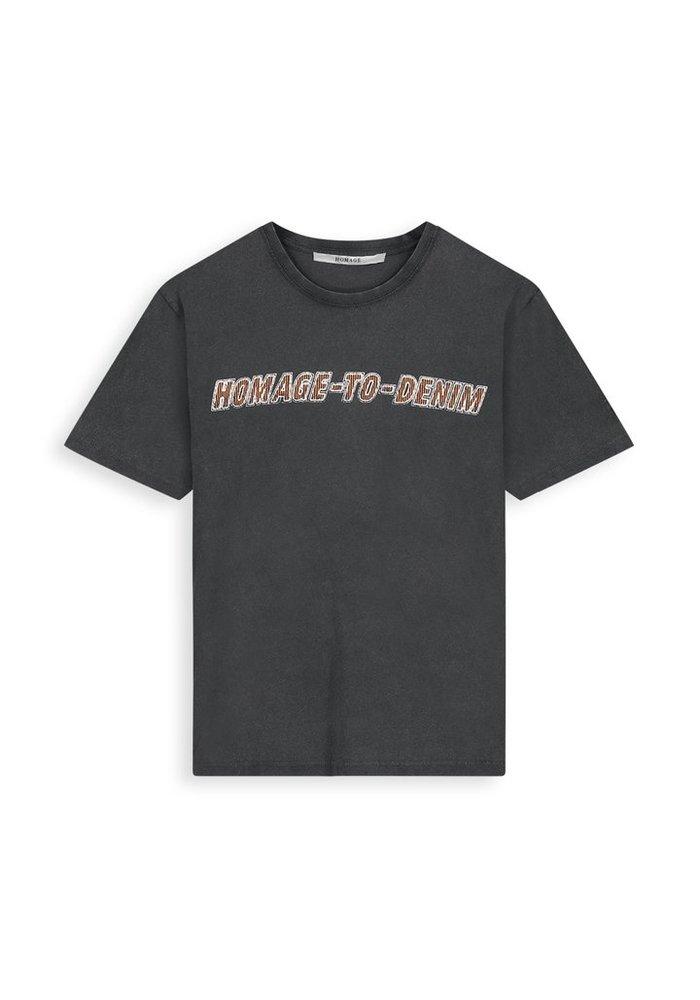 Homage  - Vintage logo tee  Dirty Grey