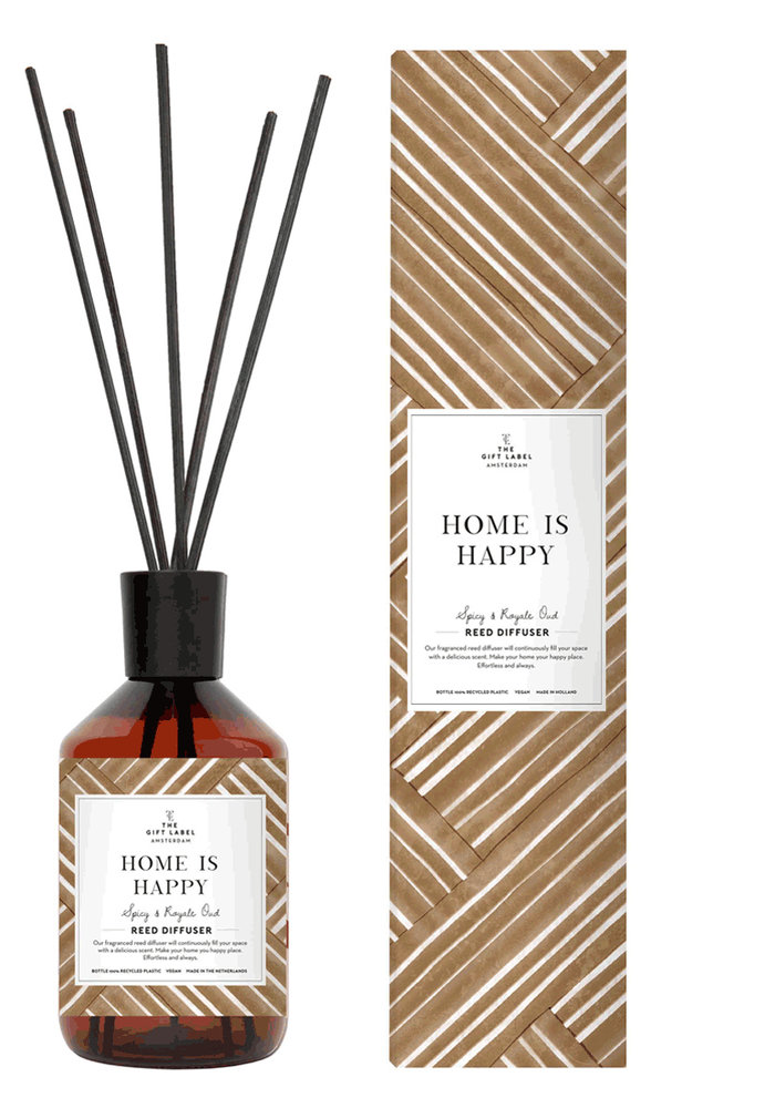 The Gift Label - Reed Diffuser400ml - Home is Happy