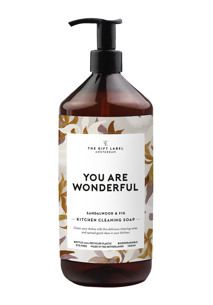 The Gift Label - Kitchen Cleaning Soap  You Are Wonderful
