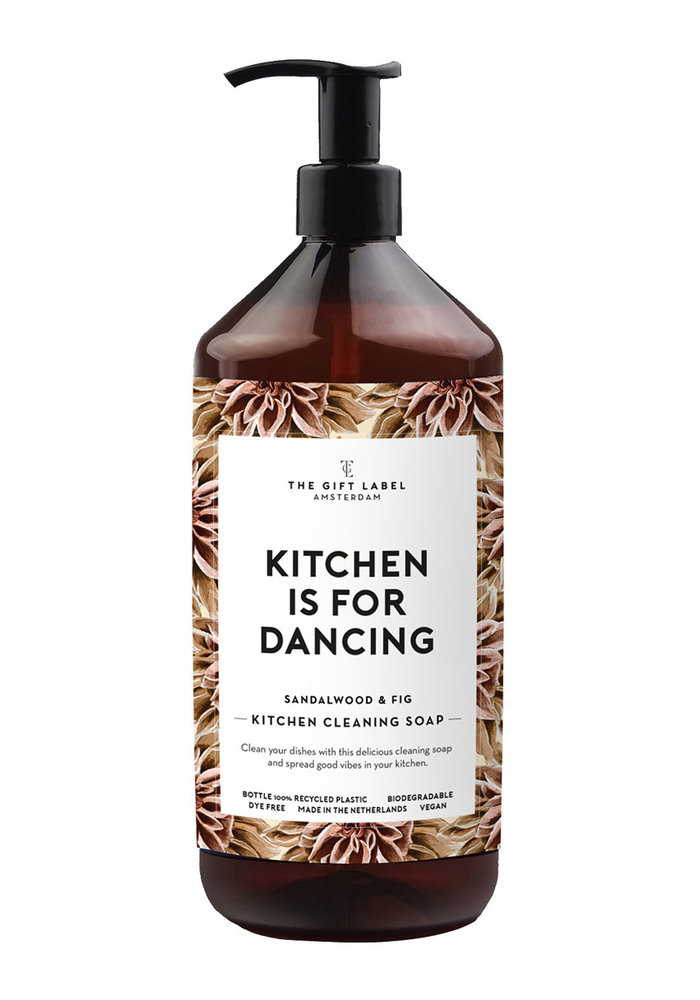 The Gift Label - Kitchen Cleaning Soap  Kitchen Is For Dancing