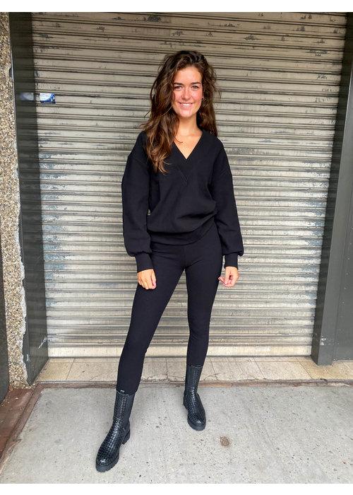 Alix Alix - Ladies Knitted Legging Black