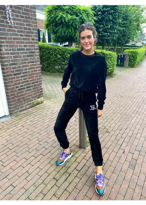 Alix Alix - Ladies Knitted Rib Velvet Pants