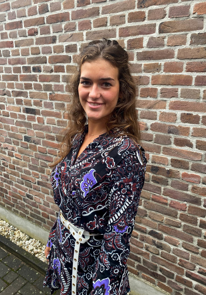 Alix - Ladies Woven Big Paisley Blouse