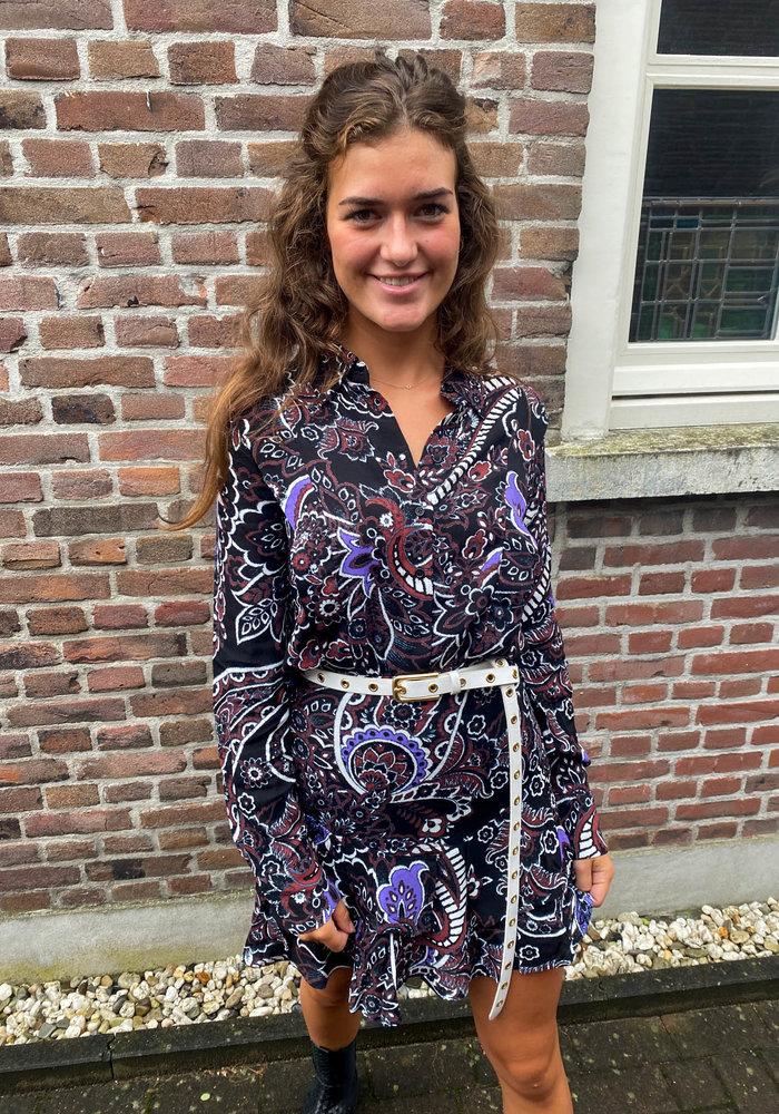 Alix - Ladies Woven Big Paisley Ruffle Skirt