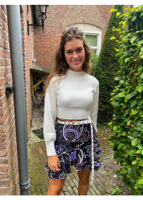 Alix Alix - Ladies Woven Big Paisley Ruffle Skirt