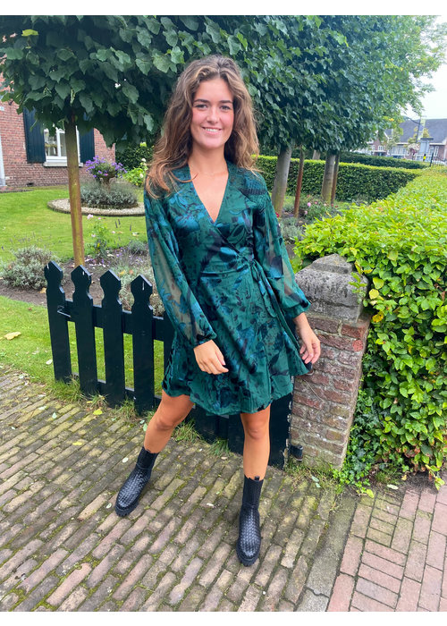 Freebird Freebird -  Odiela Dark Green Dress