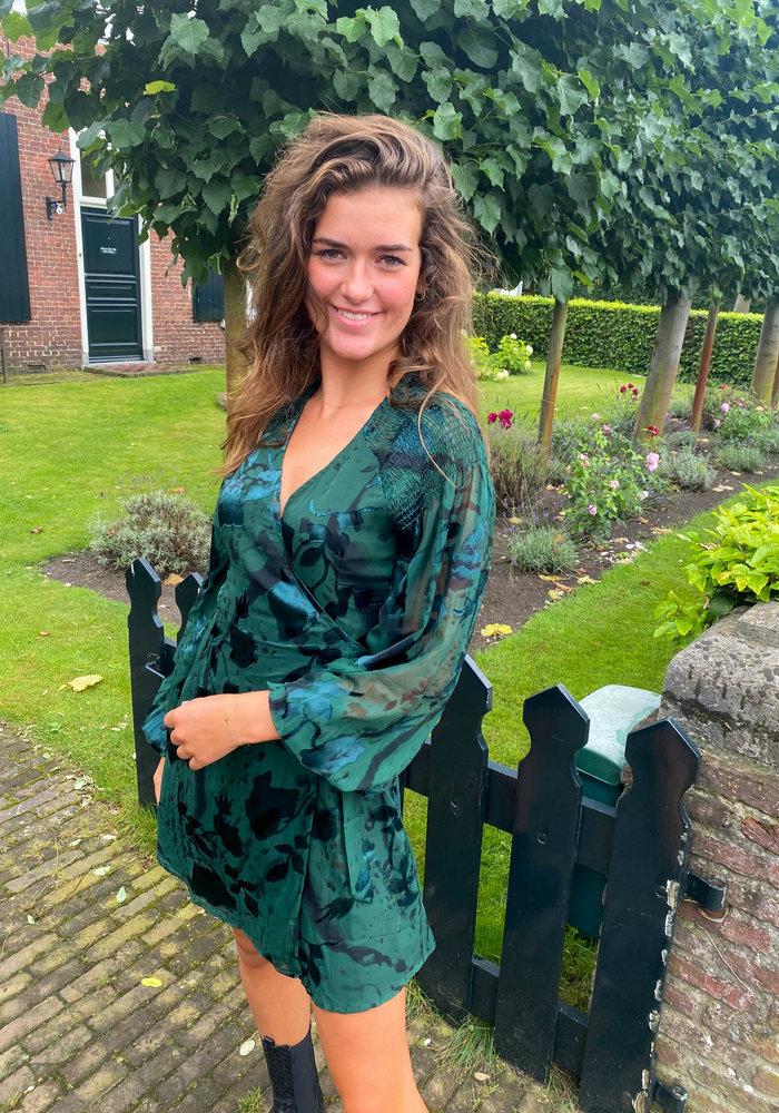 Freebird -  Odiela Dark Green Dress