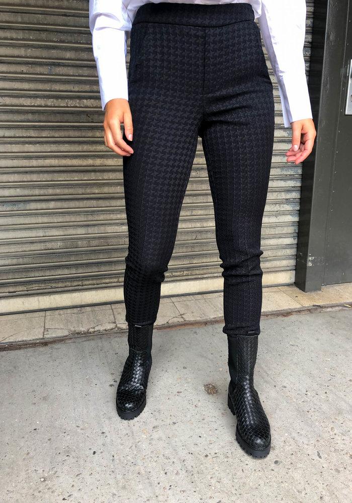 Alix - Ladies Woven Houndstooth pants