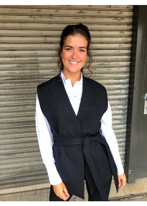 Alix Alix - Ladies Woven Houndstooth Waistcoat
