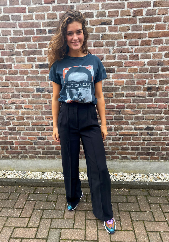 Alix - Ladies Woven Crepe Wide Leg Pants