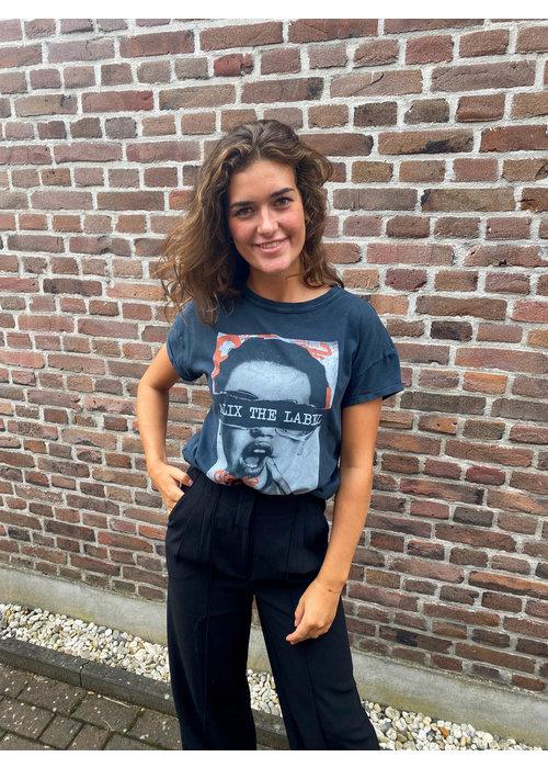 Alix Alix - Ladies Knitted Boxy Photo T-Shirt