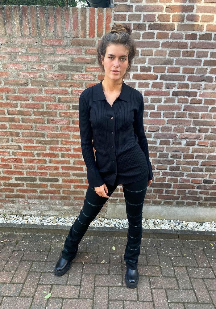 TilTil- Lynn Knitted Top Black